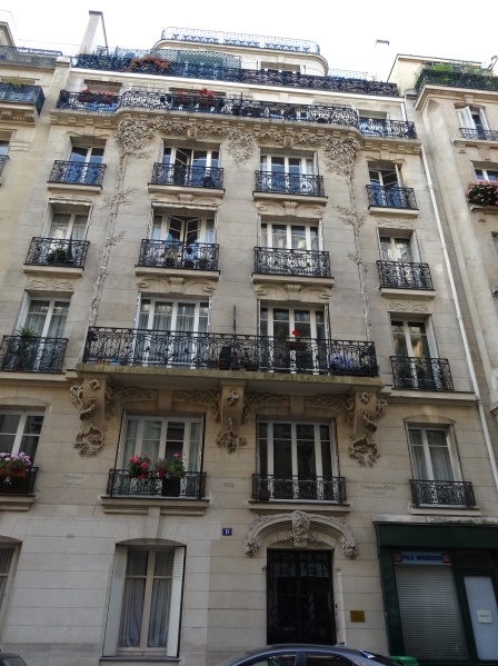 Carvings on Paris Building